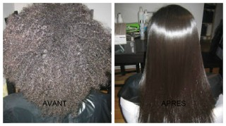 lissage sur cheveux haitiens crepus par coiffure saida