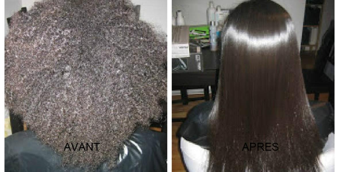 Coiffure Saida - photo avant après lissage sur cheveux haitiens et crépus